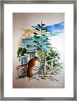 Framed Print featuring the painting Lipsi  by Therese Alcorn