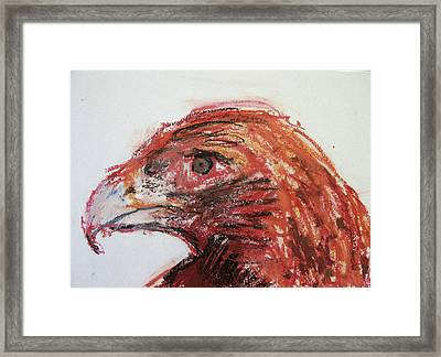 Lipstick Eagle Framed Print by Iris Gill