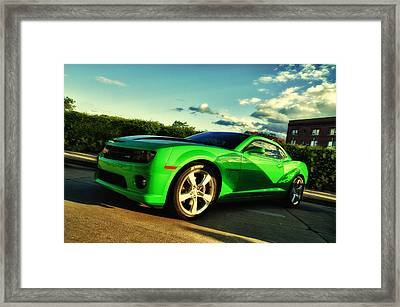Liquid Green Framed Print by Joel Witmeyer