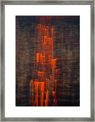 Liquid Sun Framed Print by Rosie Herbert