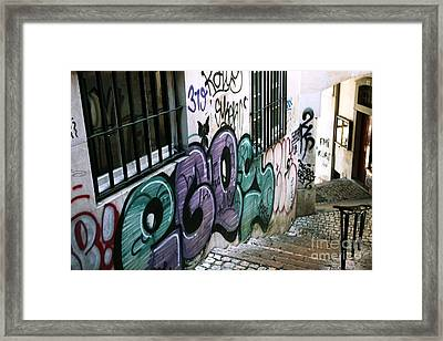 Lisbon Graffiti IIi Framed Print by John Rizzuto