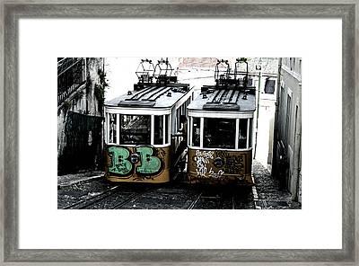 Lisbon Tram Framed Print by Gabriel Calahorra