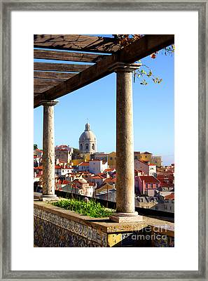 Lisbon View Framed Print by Carlos Caetano
