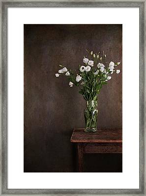 Lisianthus Flowers Framed Print by Paul Grand Image