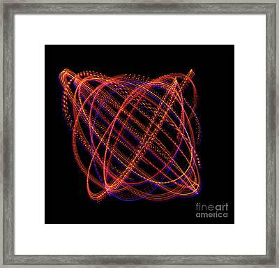Lissajous Figure Framed Print by Ted Kinsman