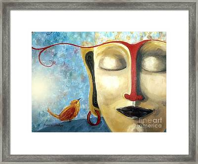 Framed Print featuring the painting Listen To The Light by Susan Fisher