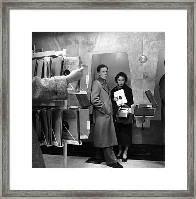 Listening Booth Framed Print by John Drysdale