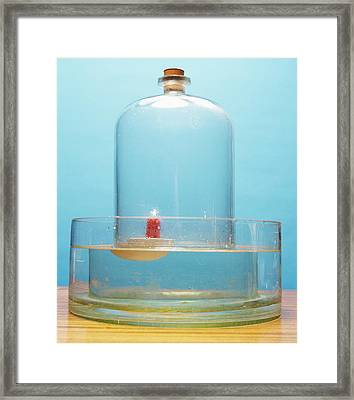 Lit Candle Under Bell Jar Framed Print by Andrew Lambert Photography