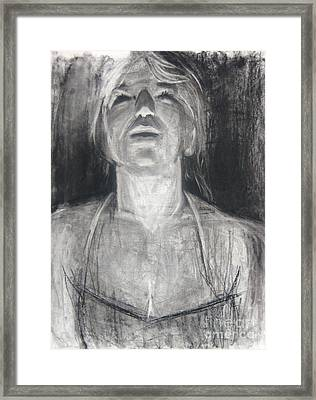 Framed Print featuring the drawing Lit by Gabrielle Wilson-Sealy