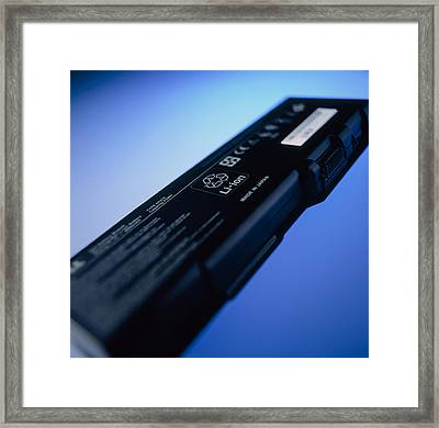 Lithium-ion Battery Framed Print