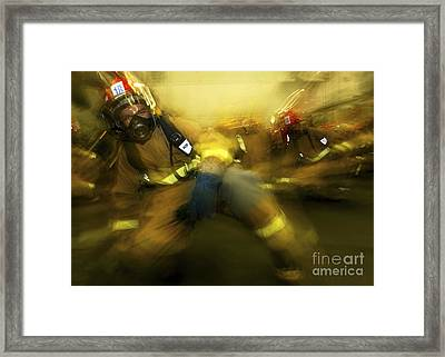 Lithographer Braces For Shock Framed Print by Stocktrek Images
