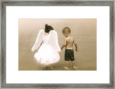 Little Angels Framed Print by Snow  White