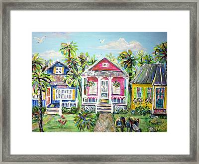 Little Beach Houses Framed Print