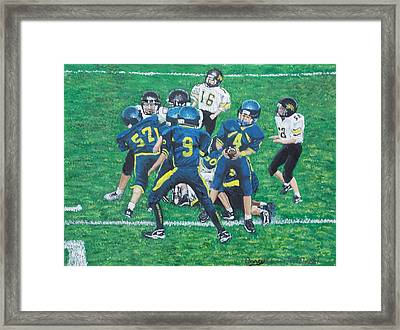 Little Big Hitters  Framed Print by Carey MacDonald