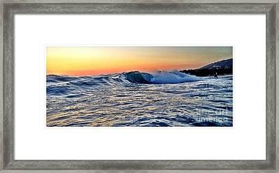 Little Big Wave Framed Print by Sebastian Acevedo