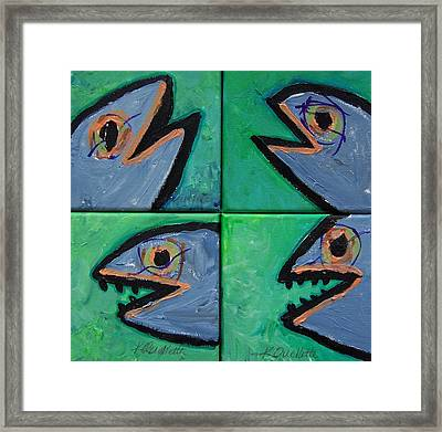 Little Blue Fish Framed Print