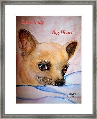 Little Body Framed Print by Carol Grimes
