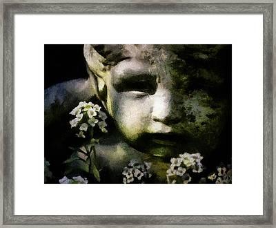 Little Boy Of Stone Framed Print by Gun Legler
