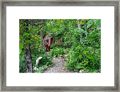 Little Cabin In The Woods Framed Print by Infinitimage Canada