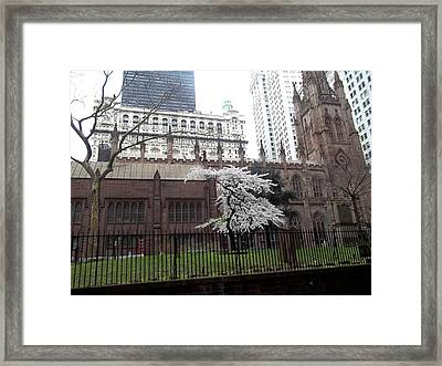 Little Chapel That Stood Framed Print by Brianna Thompson