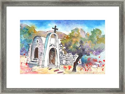 Little Church In Elounda Framed Print by Miki De Goodaboom