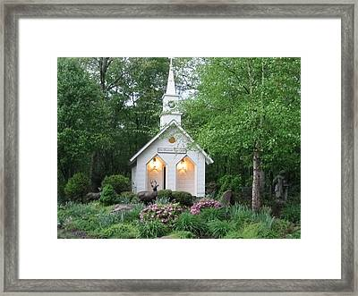 Little Church In The Mountains Framed Print