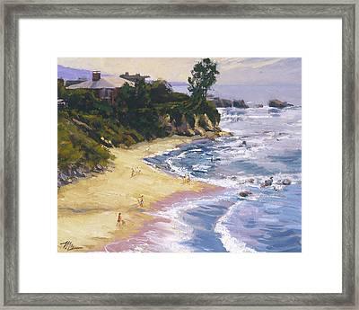 Little Corona High Tide Framed Print