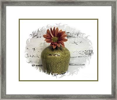 Little Daisy Little Vase Framed Print by Marsha Heiken