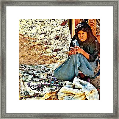 Little Egyptian Girl And Her Framed Print