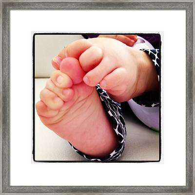 Little Foots Framed Print