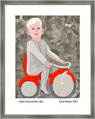 Little Fred And His Trike. Framed Print by Fred Jinkins