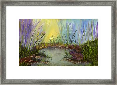Little Frog Pond Framed Print