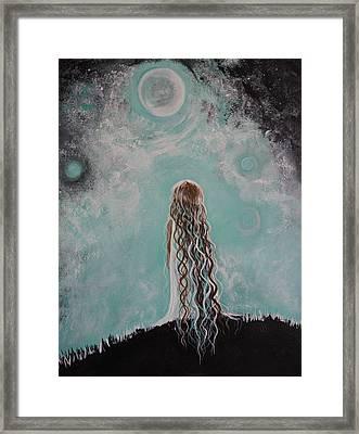 Little Galaxie Framed Print by Leslie Allen