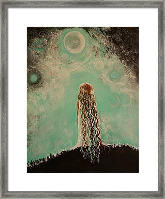 Little Galaxie One Framed Print by Leslie Allen