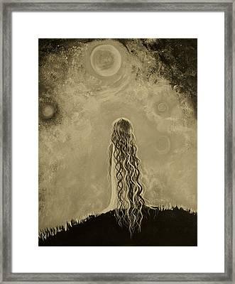 Little Galaxie Too Framed Print by Leslie Allen