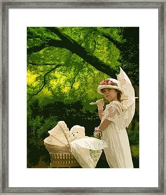 Little Girl Yesteryear Framed Print by Trudy Wilkerson