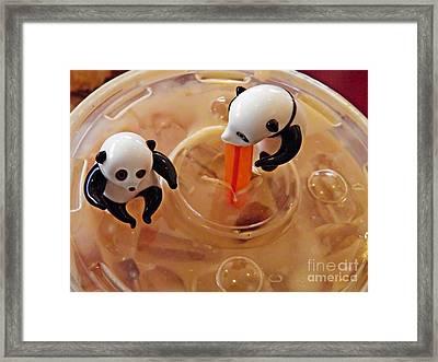 Little Glass Pandas 60 Framed Print