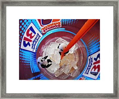 Little Glass Pandas 62 Framed Print
