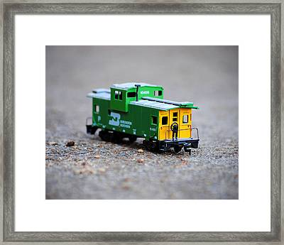 Little Green Caboose Framed Print