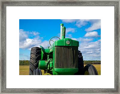 Little Green Tractor Framed Print