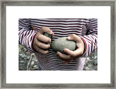 Little Hands Of Stone Framed Print