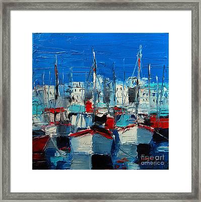Little Harbor Framed Print by Mona Edulesco