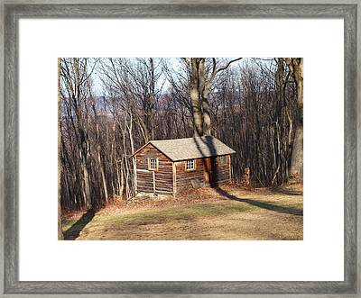 Little House In The Woods Framed Print by Robert Margetts