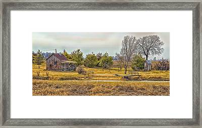 Little House On A Prairie Framed Print by Bill Tiepelman
