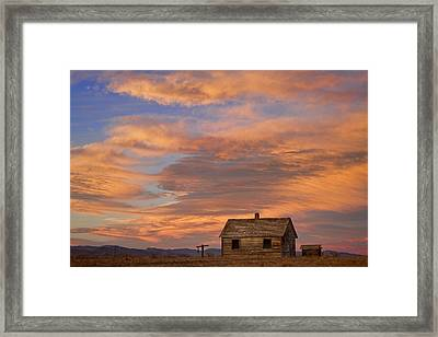 Little House On The Colorado Prairie Framed Print by James BO  Insogna
