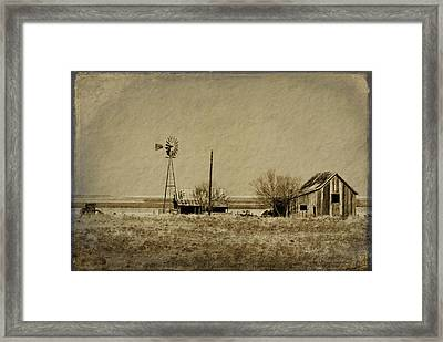 Little House On The Prairie Framed Print by Melany Sarafis