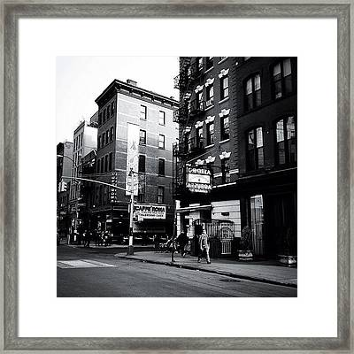 Little Italy - New York City Framed Print by Vivienne Gucwa