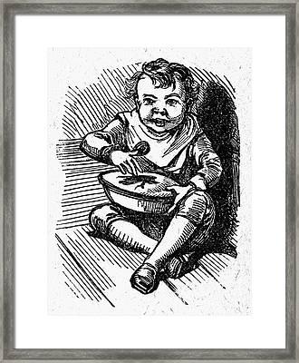 Little Jack Horner Framed Print by Granger