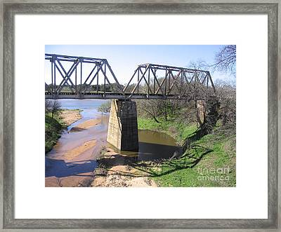 Little Llano Creek Framed Print