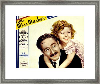 Little Miss Marker, Adolphe Menjou Framed Print by Everett